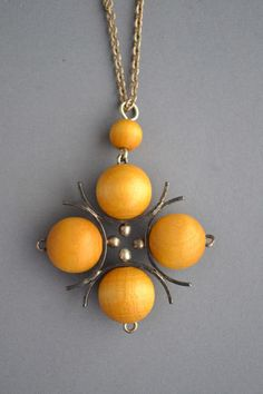Vintage Aarikka Finland Midcentury Modernist Wood Bead Ball Necklace | eBay