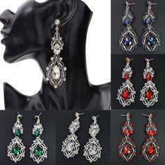 3794a9727f18 LNRRABC Rhinestones Stone Big Crystal Long Earrings Silver Drop Dangle  Wedding Party Bridal Fashion Jewelry Pendientes Mujer -in Drop Earrings  from Jewelry ...