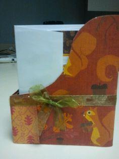 Card box I made on the cricut with cards.
