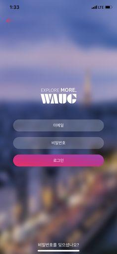 Waug _ 181026 App Login, Ui Ux Design