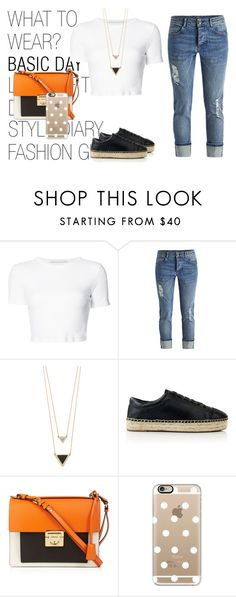 """Sem título #143"" by hellenfmartins ❤ liked on Polyvore featuring Rosetta Getty, House of Harlow 1960, Kendall + Kylie, Salvatore Ferragamo and Casetify"