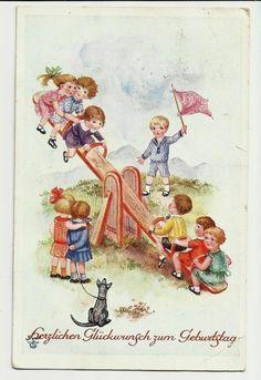 Kinder auf der Schaukel, Hund, 1931