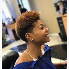 natural hair styles Big Chop Natural Hair: 5 Things You MUST Do Afterwards Natural Hair Short Cuts, Short Natural Haircuts, Short Hair Cuts, Natural Big Chop, Pixie Natural Hair, Tapered Haircut Natural Hair, Tapered Haircut For Women, Natural Tapered Cut, Tapered Afro