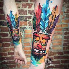 Aku Aku tattoo done by @ewasrokatattoo