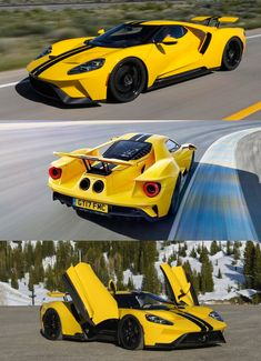 Hypercars, Ford GT #ford #supercars #yellow