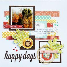 Happy Days by Designer Piradee Talvanna - Scrapbook.com idea, scrapbook layouts, pirade talvanna, happy days, scrapbooklayout, family traditions, tradit layout, famili tradit, families