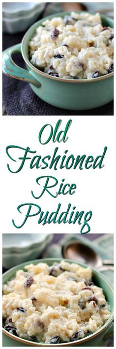 Old Fashioned Rice Pudding Creamy, easy and delicious!- Old Fashioned Rice Pudding Creamy, easy and delicious! Just like grandma use to … Old Fashioned Rice Pudding Creamy, easy and delicious! Just like grandma use to make! Rice Pudding Recipes, Pudding Desserts, Köstliche Desserts, Delicious Desserts, Dessert Recipes, Yummy Food, Rice Puddings, Rice Pudding Recipe With Evaporated Milk, Long Grain Rice Pudding Recipe