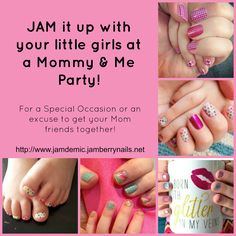 Jamberry Mommy & Me Parties! Perfect Birthday idea for the little ladies in your life, or an anytime good time! www.jamdemic.jamberrynails.net