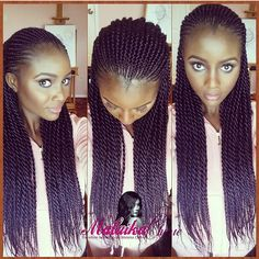 @Malaikacherie is stunning in her Senegalese Twists.  She is a master braider and it shows ❤️ #VoiceOfHair ✂️========================== Go to VoiceOfHair.com ========================= Find hairstyles and hair tips! =========================