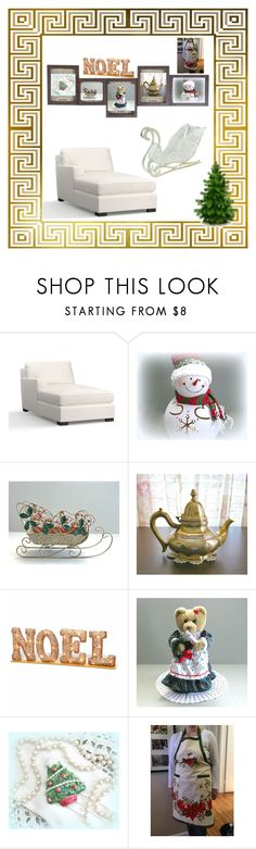 """""""Christmas In July"""" by bamasbabes ❤ liked on Polyvore featuring Pottery Barn and National Tree Company"""