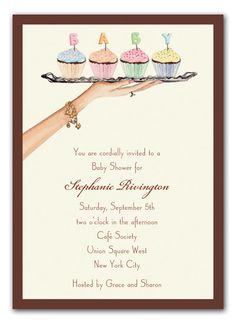 Baby Cupcakes Baby Shower Invitation