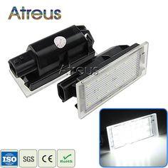 2X Auto LED Kennzeichenbeleuchtung 12 V SMD3528 Kennzeichenleuchte Für Renault Megane 2 Clio Laguna 2 Megane 3 Twingo Master Vel Satis