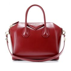 Givenchy Small Antigona Leather Tote in Red (burgundy) | Lyst