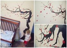 diy painting cherry blossoms - Google Search
