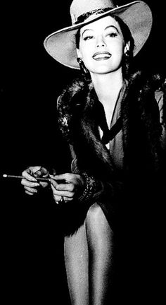 Glamour personified. Ava Gardner