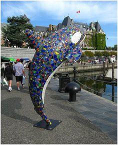 Killer whalle statue in Victoria, British Columbia