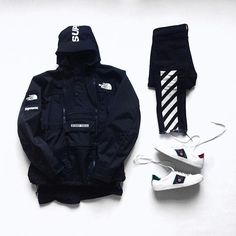 WEBSTA @ wdywt - Shop our feed, hit link in bio. or : #WDYWTgrid by @marvin.mape#mensfashion #ootd #outfit: #Supreme: #OffWhite: #Gucci Ace Sneaker#WDYWT for on-feet photos#WDYWTgrid for outfit lay down photos