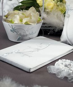 This charming Guest Book is inspired by the romantic nature of Love Birds. Two affectionate Love Birds are embroidered onto the front of the book in a playful scene set on a tree branch. Love Birds Wedding, Dream Wedding, Wedding Ring, Wedding Cake, Wedding Ceremony, Elegant Wedding Themes, Wedding Ideas, Wedding Inspiration, Wedding Stuff