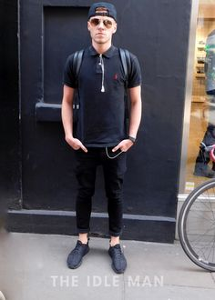 Men's Street Style - Polo Pose