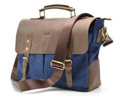 78d212d32924 Мужская сумка-портфель кожа+парусина RK-3960-3md от украинского бренда TARWA