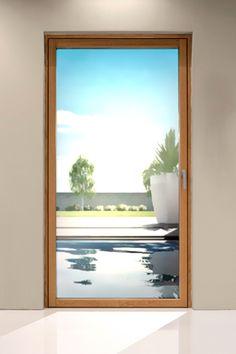 Finestre e portefinestre in alluminio e legno De Carlo MinimalWood