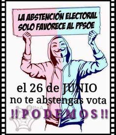 CNA: VOTAR o NO VOTAR El sorpasso al PP depende solo de nuestro voto... la Abstención SOLO favorece a la Casta