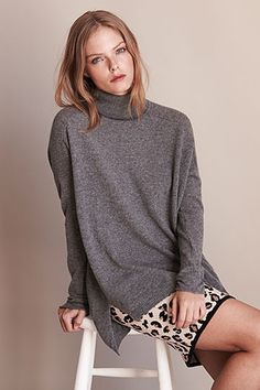 Evelina Cashmere Turtleneck Sweater by Velvet
