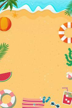 Beach Sea Ocean Sand Background - New Ideas Tropical Background, Beach Background, Creative Background, Background Images, Ocean Backgrounds, Colorful Backgrounds, Summer Paradise, Paradise Travel, Beach Illustration