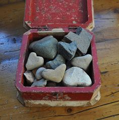 heart shaped rock collection