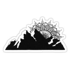 Mandala stickers featuring millions of original designs created by independent artists. Decorate your laptops, water bottles, notebooks and windows. 4 sizes available. Mandala Tattoo Design, Dotwork Tattoo Mandala, Tattoo Designs, Cover Up Tattoos, New Tattoos, Tattoo Drawings, Print Tattoos, Tatoos, Tattoo Care