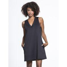 CARBON38 Spectrum Dress (8,885 INR) ❤ liked on Polyvore featuring dresses, loose fit dress, v-neck dresses, a-line v-neck wedding dresses, loose dresses and v neck dress