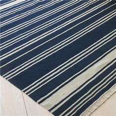 Good Coastal Stripe Dhurrie Rug: 5 Colors Bring The Casual Look Of Nautical  Decor To Your