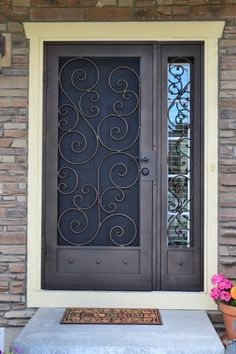 how to fit security gates Balcony Grill Design, Window Grill Design, Door Design, Exterior Design, Iron Front Door, Iron Doors, Exterior Doors, Entry Doors, Window Glass Design
