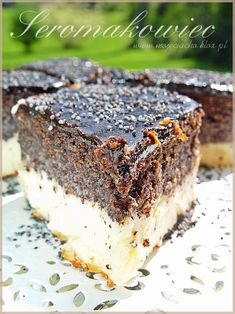 Baklava Cheesecake, Polish Recipes, Chocolate Desserts, Us Foods, Cheesecakes, Deserts, Food And Drink, Low Carb, Cooking Recipes