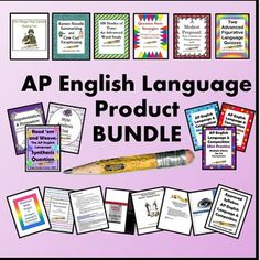 This ever-growing bundle is for the first-time instructor or seasoned teacher who needs to shake things up a bit. It contains 441 pages of AP English Language & Composition resources (all 24 of my AP products!). Priced individually, the value of these products is $100, so the  BUYER SAVES $20 WITH THE BUNDLE!