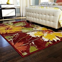 @Overstock.com - Skye Monet Hibiscus Rug (7'7 x 10'5) - Place this floral decorative rug in any room to create a dramatic focal point. Featuring a bold pattern of hibiscus flowers, this colorful rug is the perfect accent for any decor. Its polypropylene construction ensures it will stand up to heavy use.  http://www.overstock.com/Home-Garden/Skye-Monet-Hibiscus-Rug-77-x-105/7751880/product.html?CID=214117 $260.57
