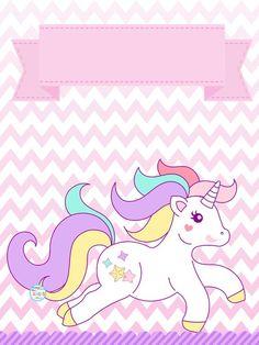Convites de Unicórnio para Imprimir e Preencher: Grátis Unicorn Birthday Invitations, Diy Invitations, Unicorn Birthday Parties, Unicorn Crafts, Unicorn Art, School Labels, Little Pony Party, Hello Kitty Birthday, Hello Kitty Wallpaper