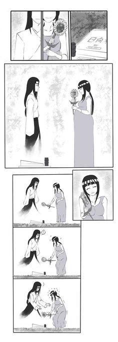 Naruto Shippuden » <3 » Comic | Hinata visits Neji's grave | #hinata #neji