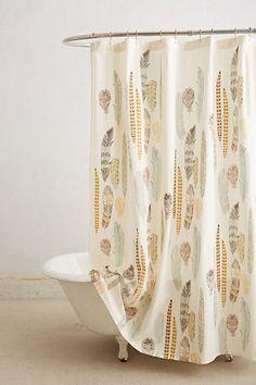 Fallen Quills Shower Curtain - anthropologie.com