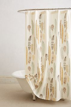 Fallen Quills Shower Curtain - anthropologie.com