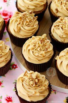 coffee walnut cupcakes