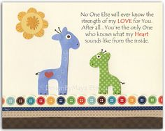 Nursery wall art print Baby Room Decor Giraffe No by DesignByMaya, $17.00