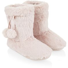 Accessorize Supersoft Boot Slippers (2.110 RUB) ❤ liked on Polyvore featuring shoes and slippers