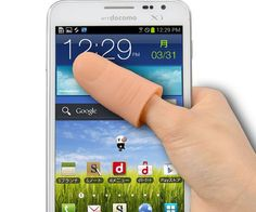Thumb Extender For Enormous Phones  Go back to the simpler times when you could maneuver around your smartphone single-handedly by using the thumb extender for enormous phones. In an age where phones look more like tablets this appendage will help you navigate through your gigantic touchscreen.  $13.60  Check It Out  Awesome Sht You Can Buy