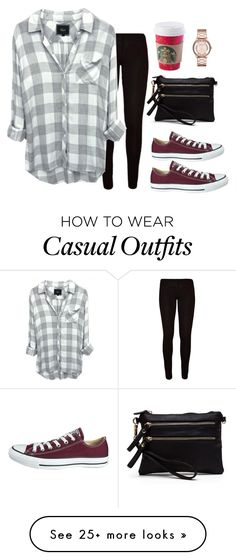 """day five: casual Black Friday"" by preppytkk on Polyvore featuring Converse, Marc by Marc Jacobs and 5setsofthanksgiving"