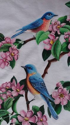 29 best Ideas for bird print clothes fabrics Fabric Paint Shirt, Fabric Painting On Clothes, Dress Painting, Silk Painting, Fabric Art, Watercolor Hummingbird, Watercolor Bird, Fabric Paint Designs, Fabric Design