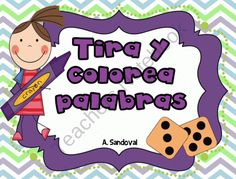 Roll and Color the Word in Spanish from Angelica Sandoval on TeachersNotebook.com (34 pages)  - Students roll a die and color the word that corresponds to the number. There are 30 different sheets with a focus of a particular syllable (ma, pa, sa, etc).  A template of a cube is included so that you can create your own dice.