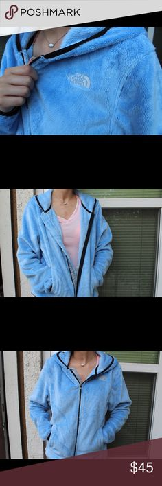 Women's North Face Osito Jacket (M) BRAND NEW!!! Gifted to me but // never worn // because it was a size too big for me. So incredibly soft and a beautiful baby blue color. North Face Jackets & Coats