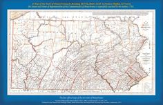 """1792 Reading Howell Map of Pennsylvania. This 1792 map was the first map issued of the new state of Pennsylvania after independence. Creator Reading Howell inscribed it to Governor Thomas Mifflin as well at the General Assembly. The original printed map measures 40.5"""" x 67.25"""". This reproduction is made from the copy held at the Pennsylvania State Archives and measures 11""""x17"""". $5"""