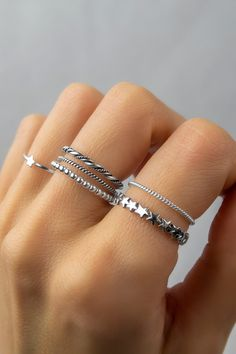Bling Bling, Tiny Rings, Jewelery, Silver Jewelry, Jewelry Accessories, Metallica, Sterling Silver, Diamond, Etsy
